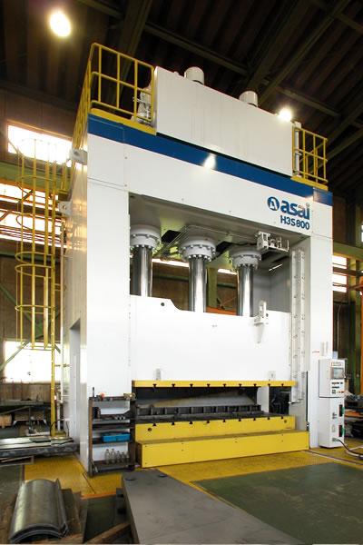 800ton単動油圧プレス(ASAI)